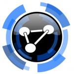 chemistry black blue glossy web icon